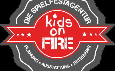 Logo von Kids on Fire, die Spielfestagentur buchbar über Mühle Events
